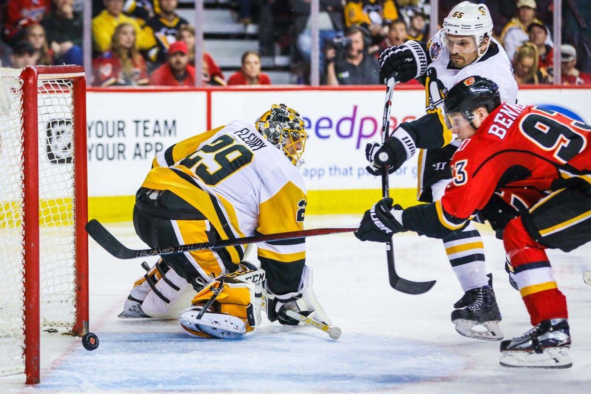 «Питтсбург» уступил «Калгари» вматче чемпионата НХЛ