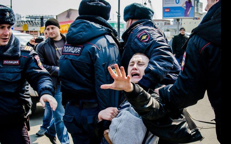 ВоВладивостоке намитинге против коррупции задержали 40 человек