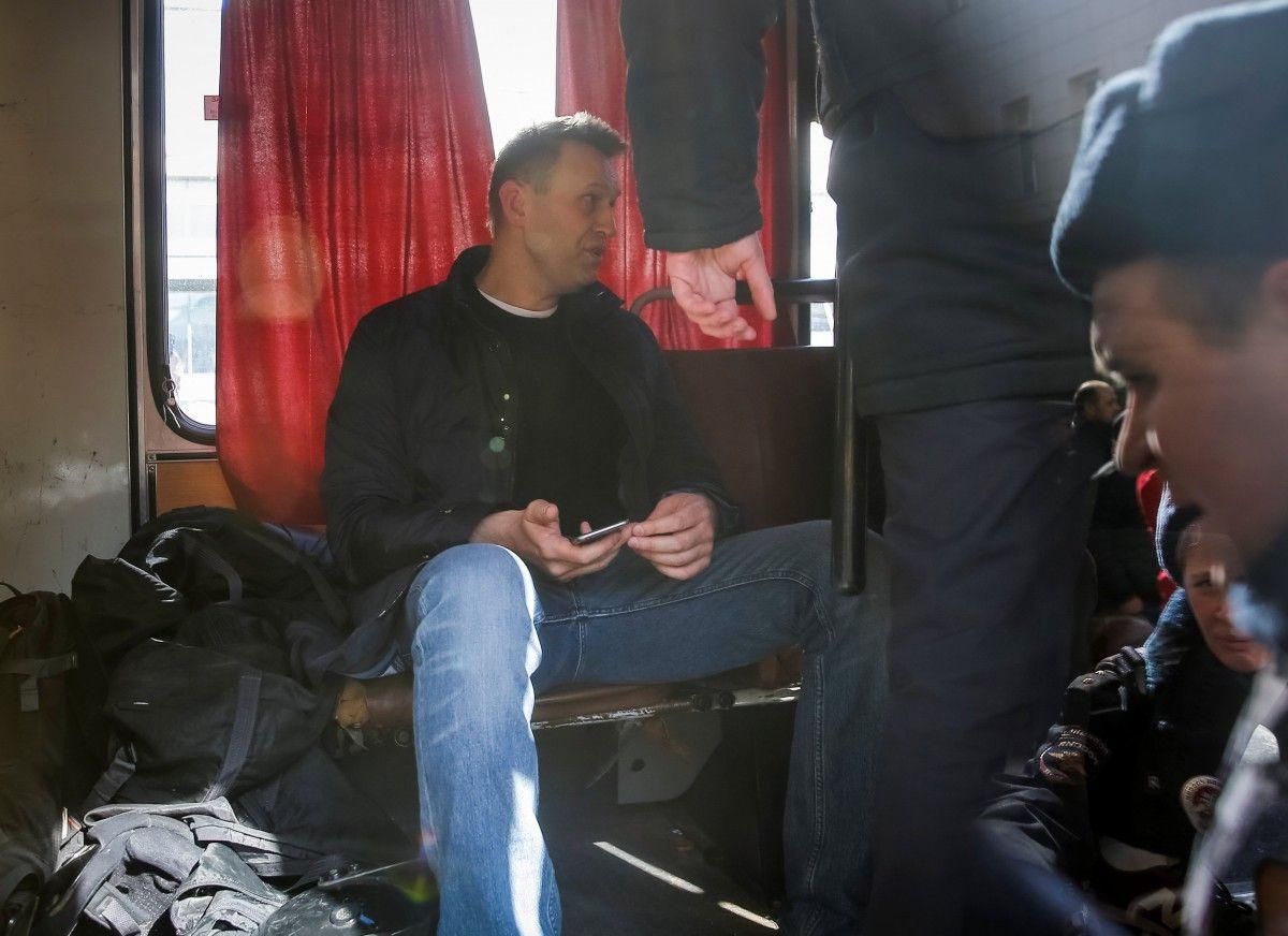Алексея Навального задержала милиция наТверской улице