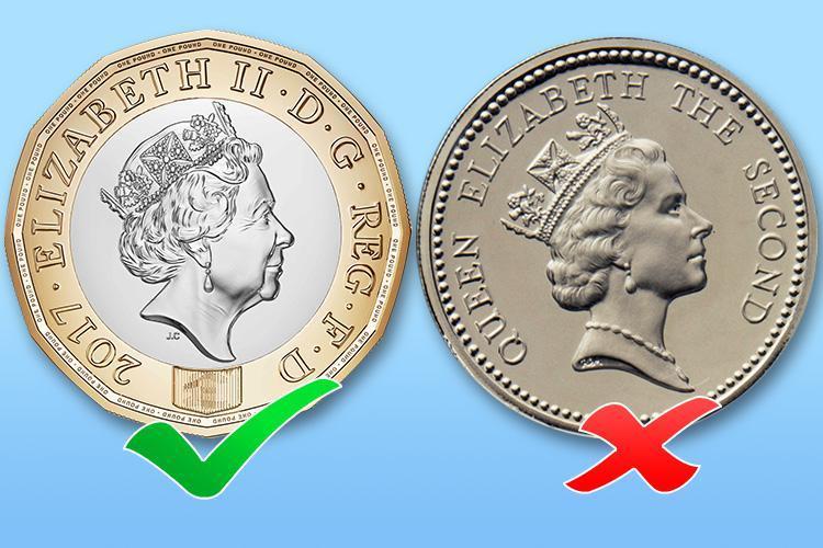 В Англии поступили вобращение новые монеты в1 фунт