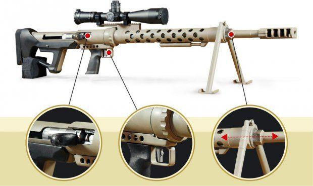 ВХарькове создали уникальную крупнокалиберную винтовку