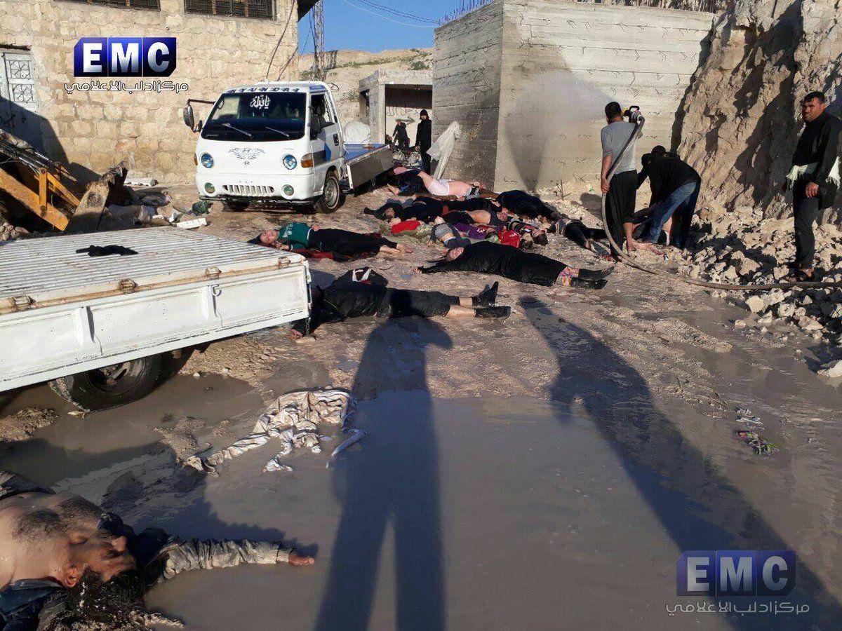 Практически 60 человек погибли вСирии после химической атаки