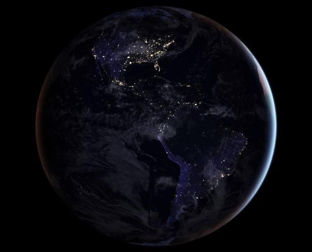 Земля виллюминаторе. NASA представило детальную карту нашей планеты вночное время