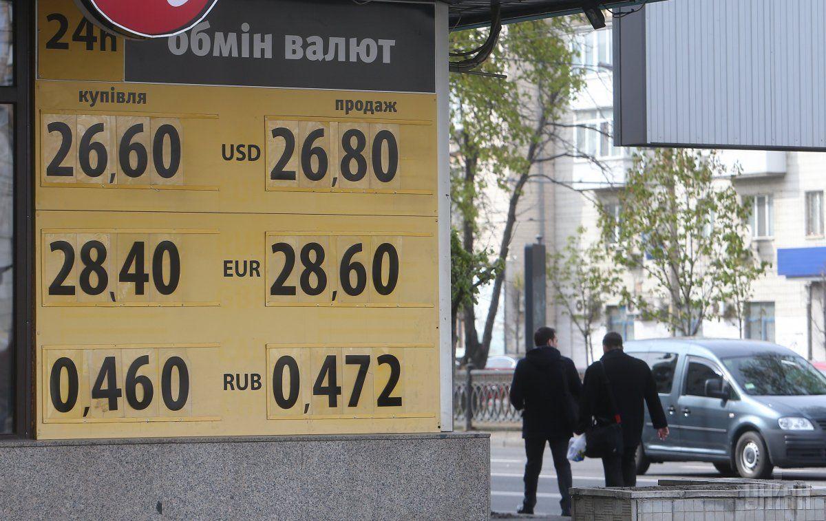 Курс гривни намежбанке вначале рабочей недели укрепился до26,64 грн/$1