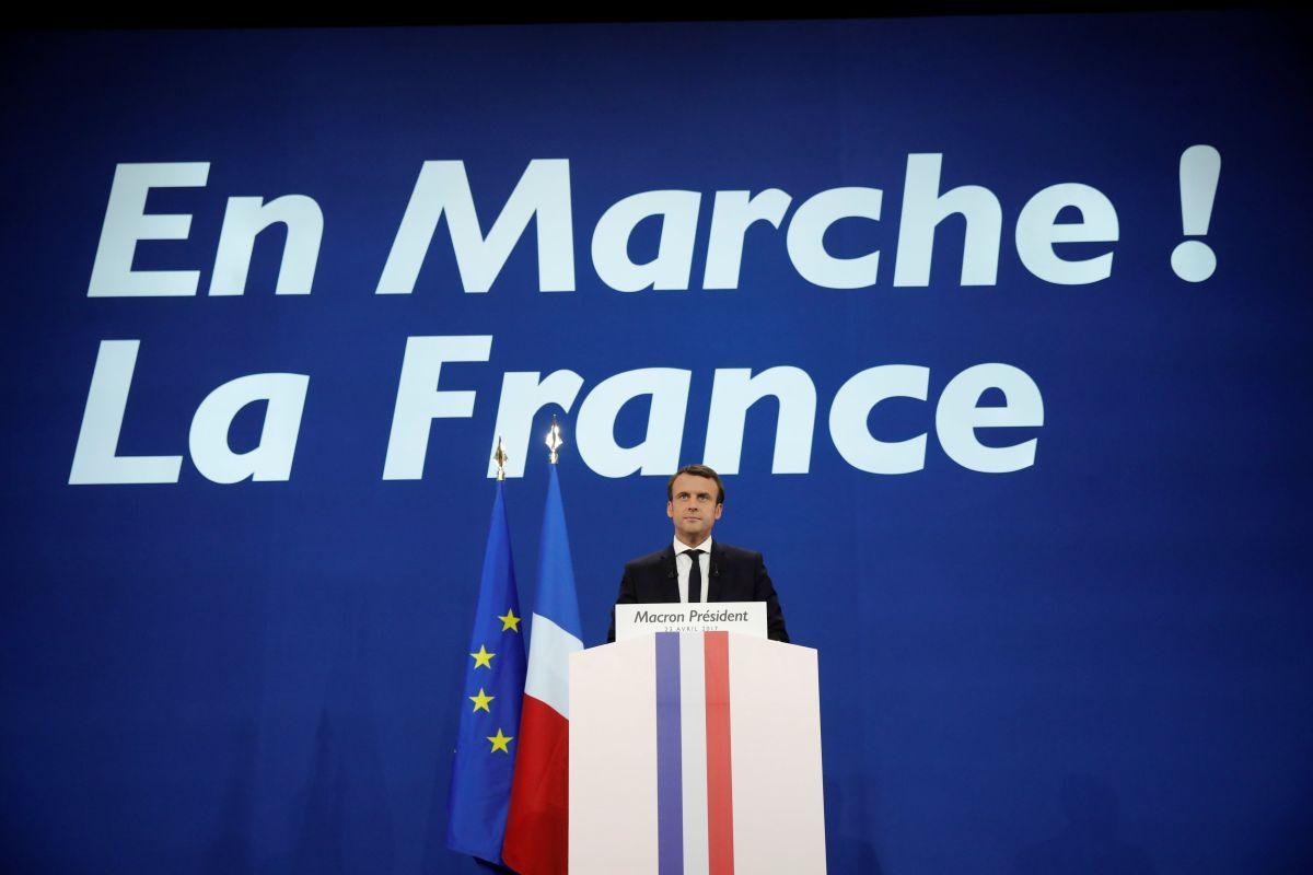 Макрон объявил осоздании коалиции вслучае победы навыборах