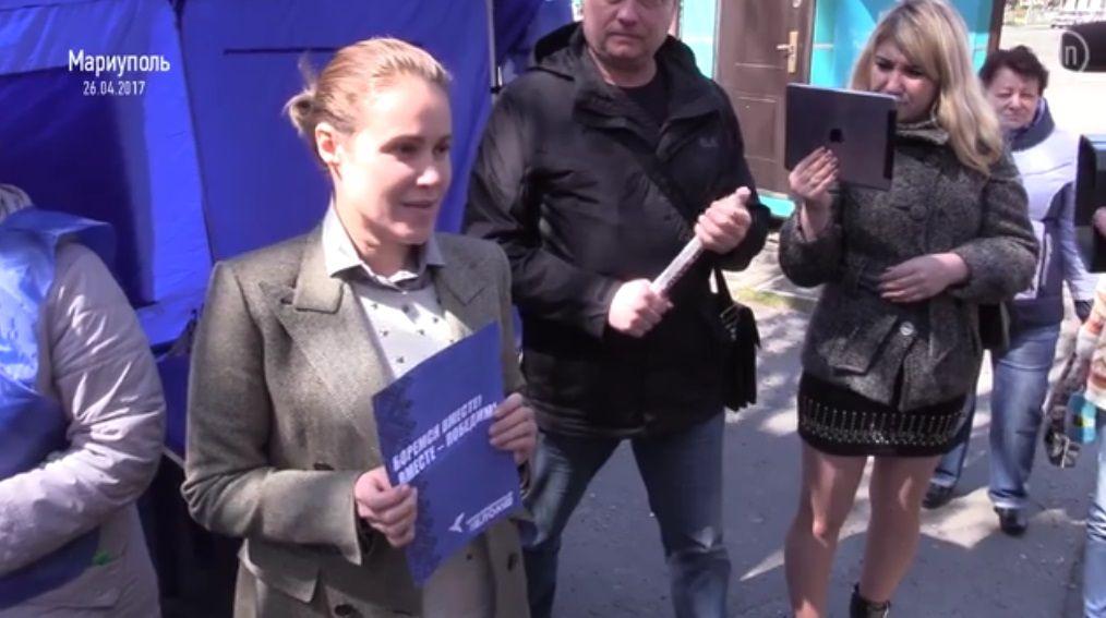 ВМариуполе агитаторы «Оппоблока» собирают подписи против «ущемления» русского языка