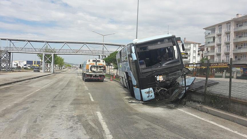 ВТурции врезался встолб автобус сделегатами съезда правящей партии