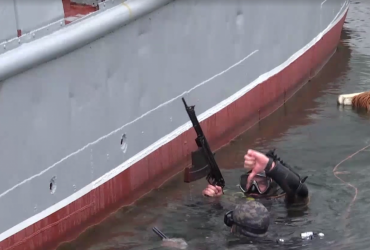 В Одесі відбулось тренування бойових плавців (відео)