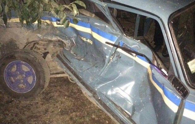 Под Одессой нетрезвый на«Ниссане» протаранил полицейский ВАЗ