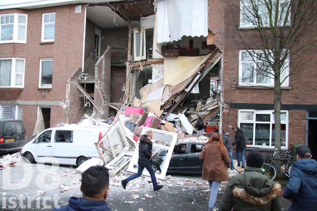В Гааге взрыв разрушил жилой дом, под завалами могут находиться люди photo