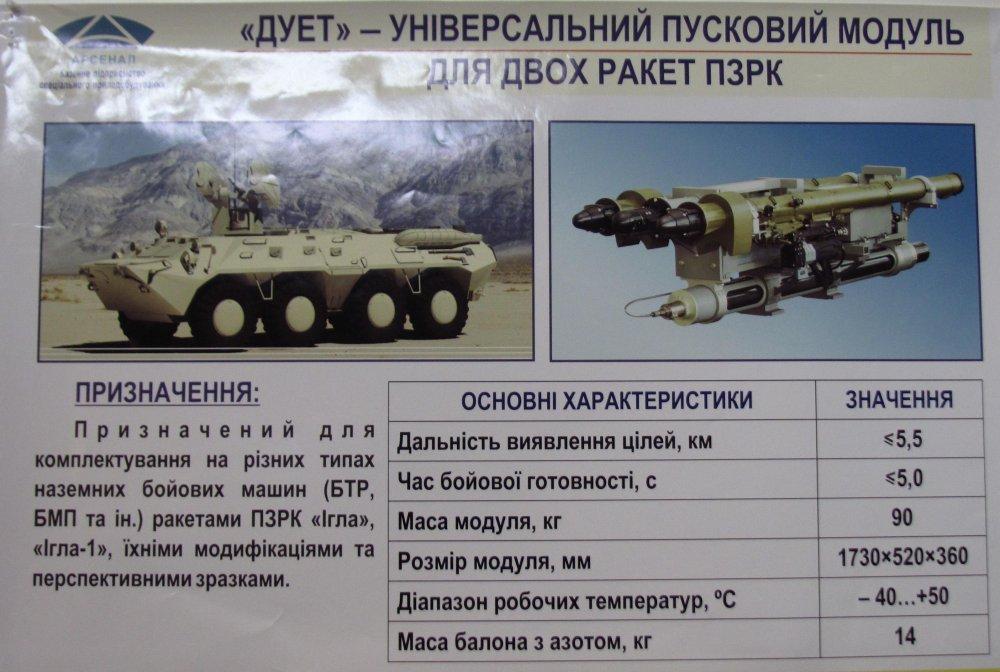 """В Украине разработали боевой модуль """"Дуэт"""" для мобильного ЗРК photo"""