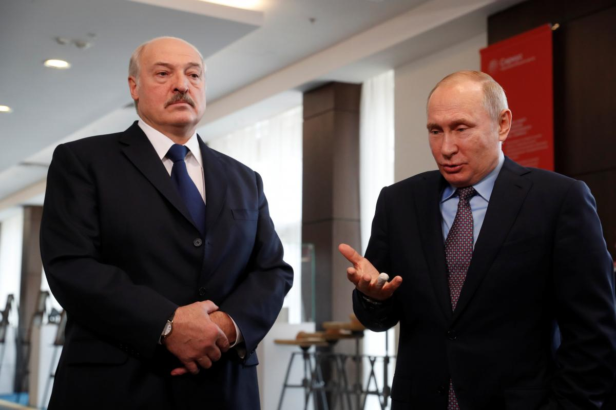 Олександр Лукашенко та Володимир Путін/ REUTERS