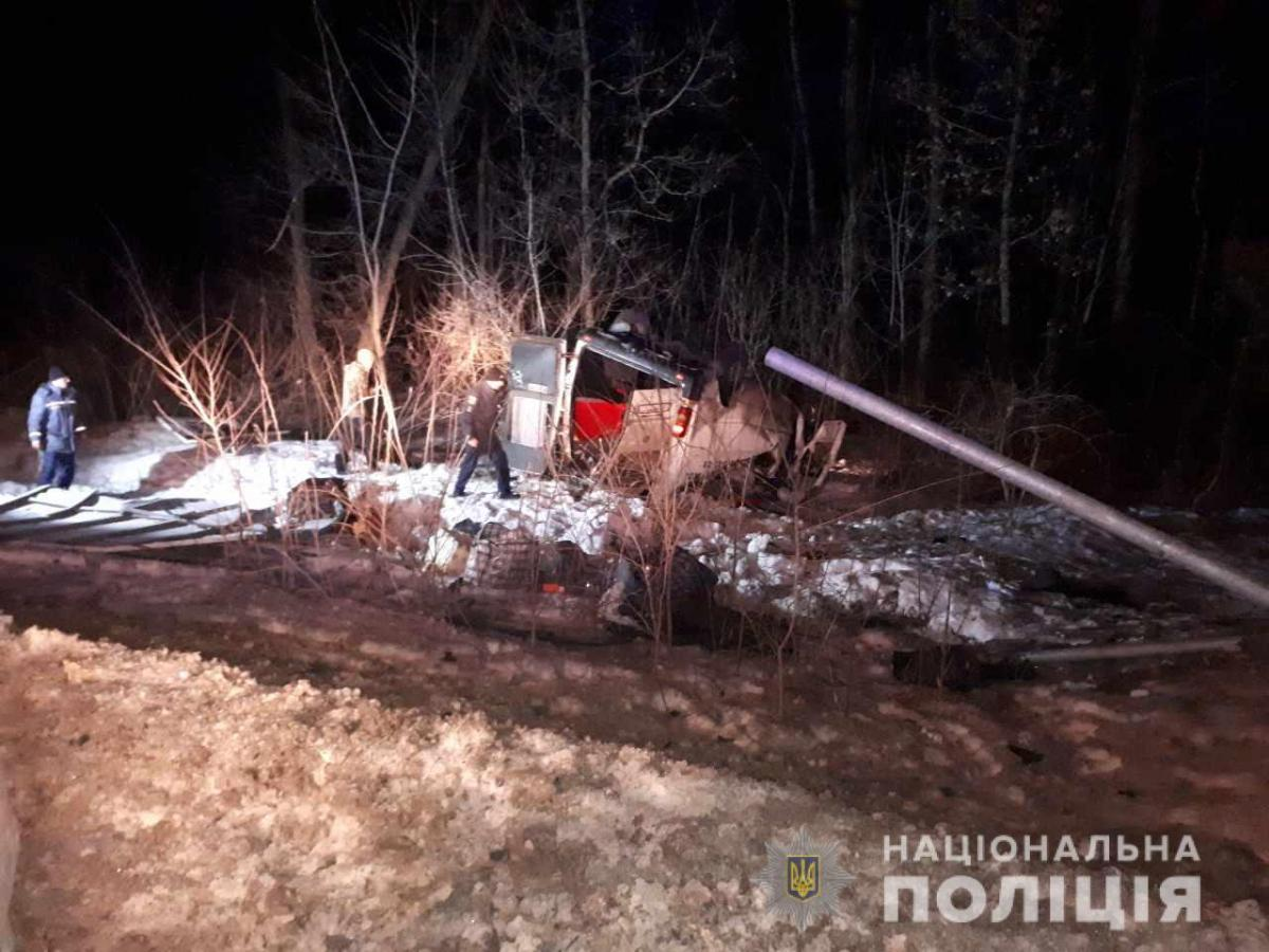 На Полтавщині перекинувся мікроавтобус з пасажирами, загинуло четверо людей