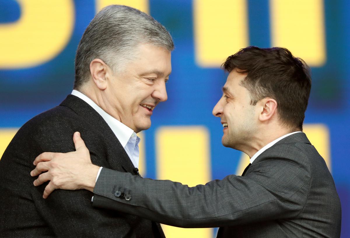 Petro Porošenko ta Volodymyr Zelens'kyj / foto REUTERS