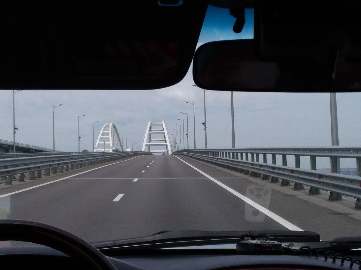 В сети показали свежие фото Крымского моста