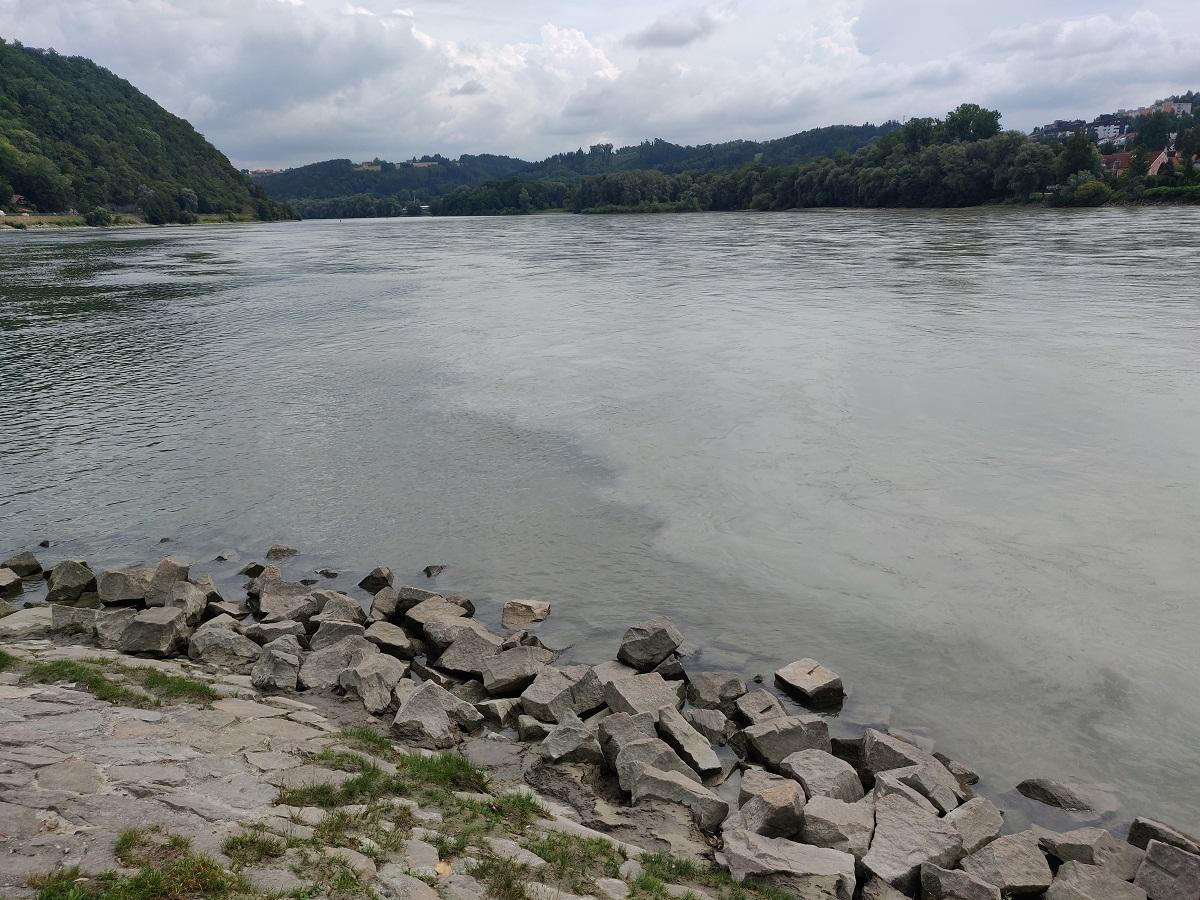Пассау. Німеччина. Місце злиття річок Ін та Дунай / Фото УНІАН