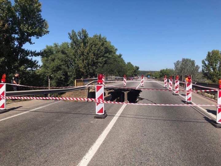 У Харкові обвалився автомобільний міст / фото facebook/Ukravtodor.Gov.Ua