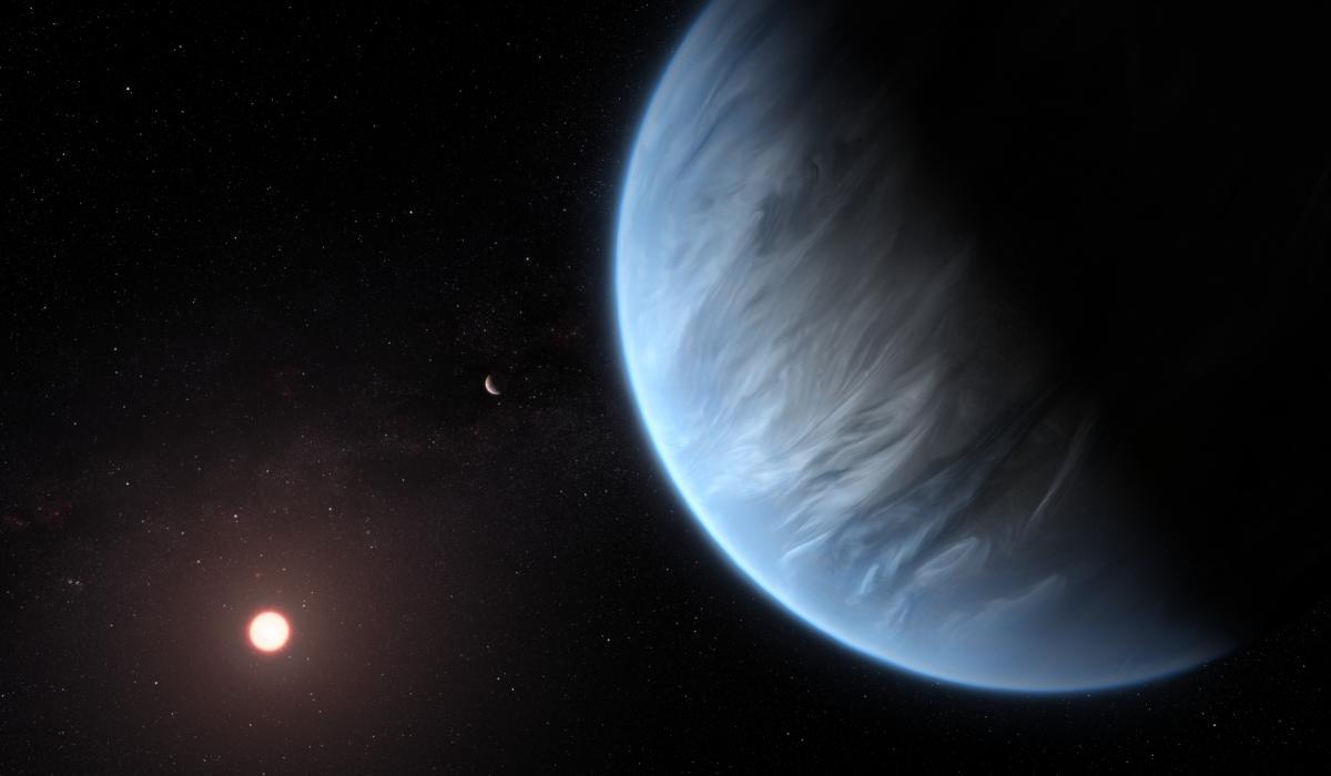 До половини атмосфери K2-18b може складатися з води / фото ESA/Hubble, M. Kornmesser