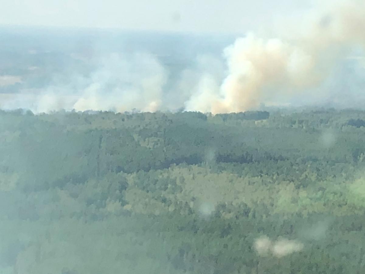 Для гасіння вогню залучили авіацію / фото facebook.com/MNS.GOV.UA