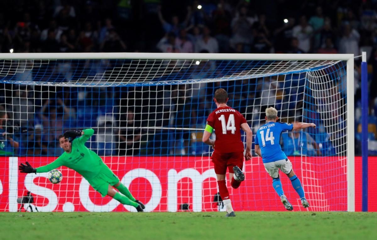 Лига чемпионов: Ливерпуль проиграл Наполи, ничья в Дортмунде и другие результаты 17 сентября