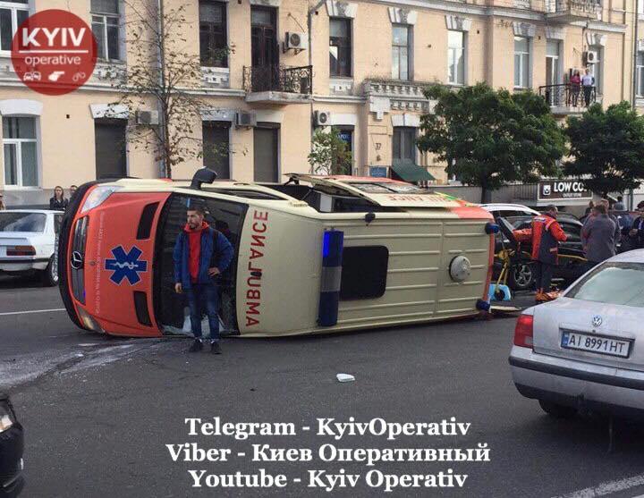 Аварія сталася у четвер близько 14:30 / фото facebook.com/KyivOperativ