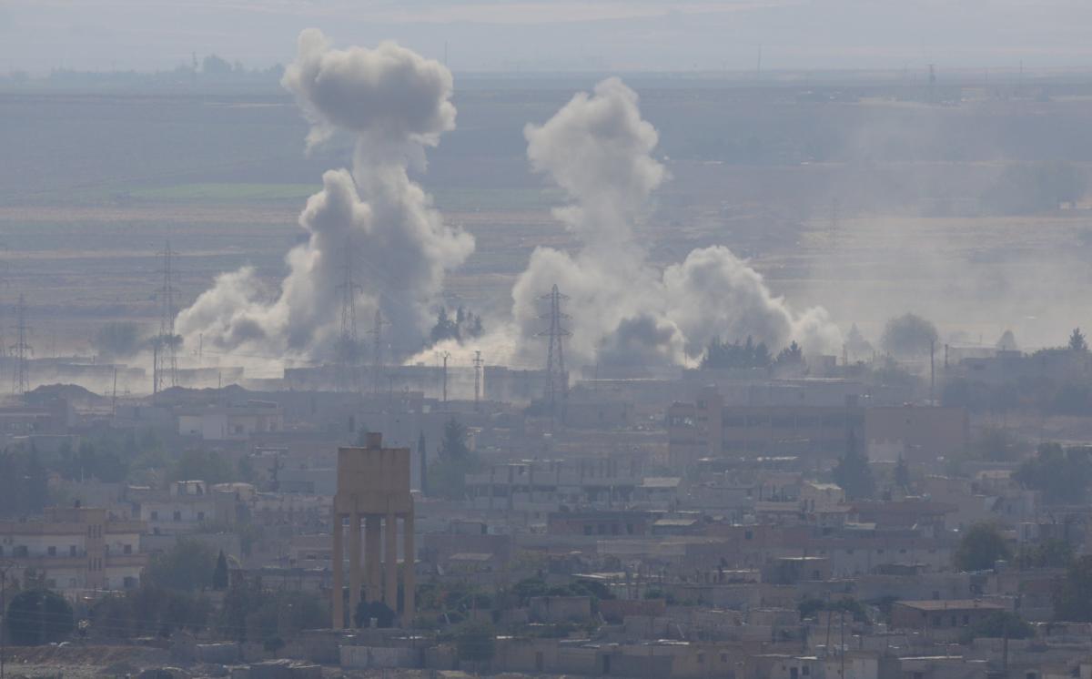 Дим над сирійським городом Рас-ель-Айн / REUTERS