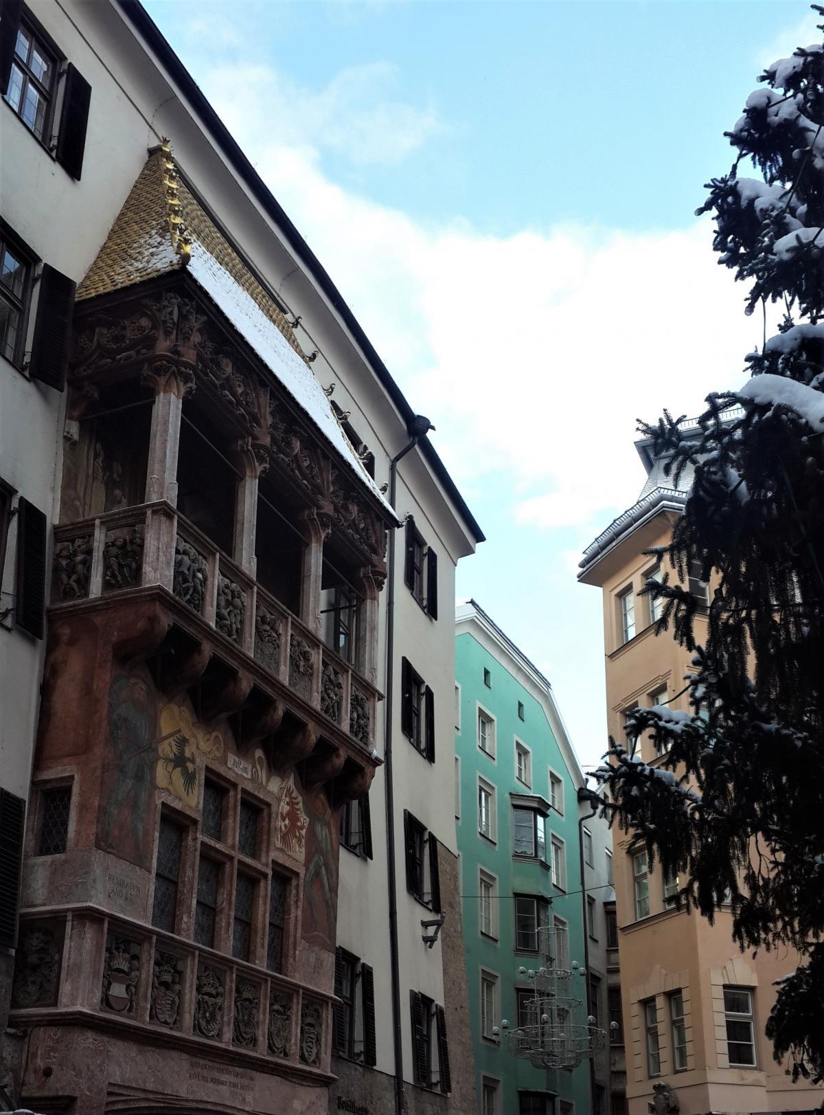 Балкон з золотим дахом в Інсбруку / Фото Марина Григоренко
