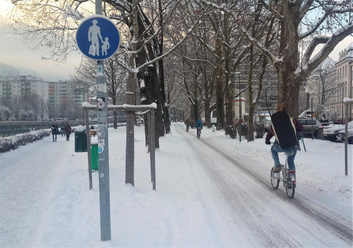 Зима велосипеду не перешкода / Фото Марина Григоренко