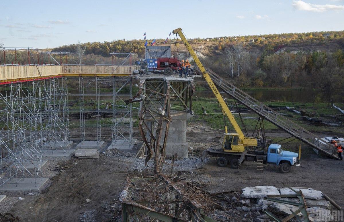 Міст у Станиці Луганській планують відкрити23листопада / фото УНІАН