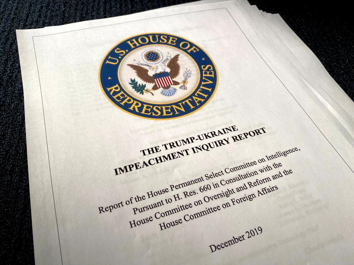 У США оприлюднили проект звіту про імпічмент Трампа / REUTERS