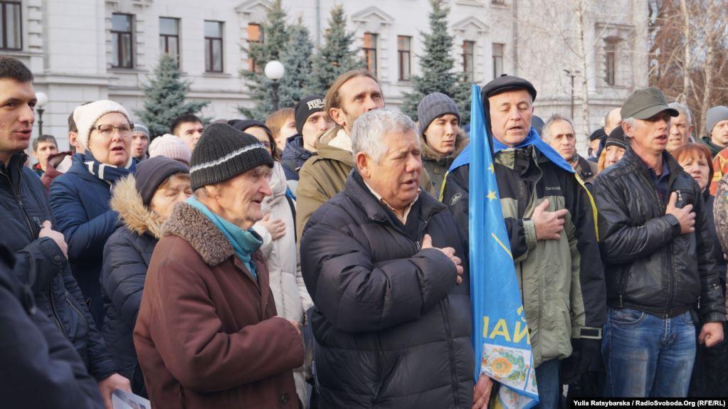 В Днепре прошла акция протеста