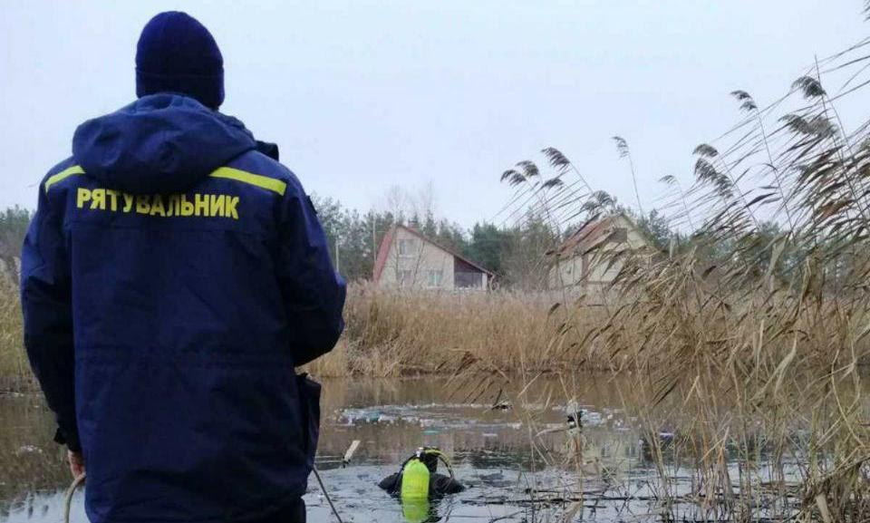Під Києвом на озері потонули двоє чоловіків / dsns.gov.ua