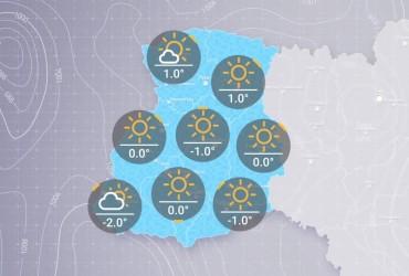 Prohnoz pohody v Ukraїni na p'jatnycyu, ranok 6 hrudnya