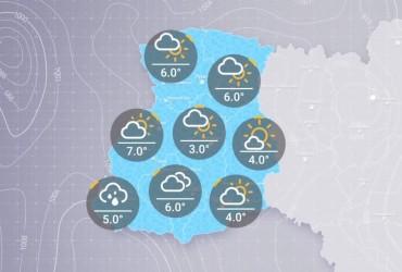 Prohnoz pohody v Ukraїni na ponedilok, ranok 9 hrudnya