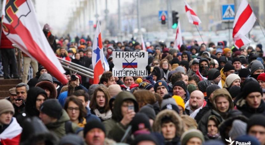У Мінську протест проти інтеграції з Росією закінчився без пригод і затримань (відео)