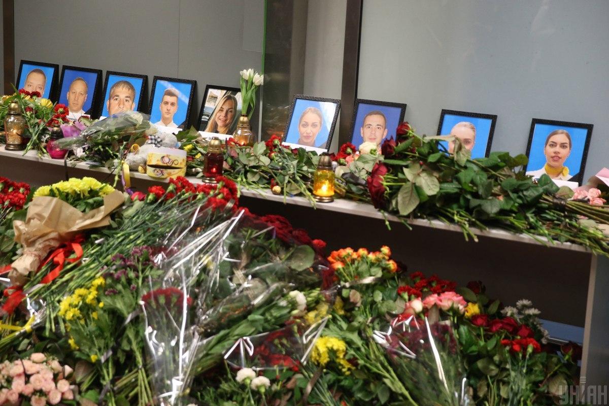 Украинцев просят присоединиться к прощанию с погибшими в авиакатастрофе МАУ под Тегераном