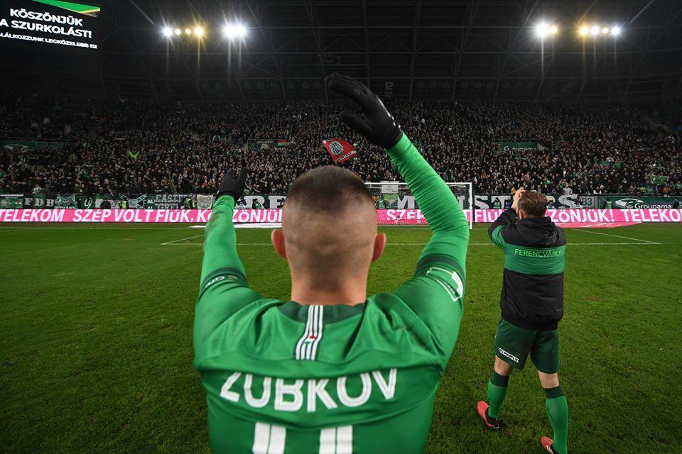 Олександр Зубков забив єдиний гол у матчі / фото: facebook.com/fradi.hu