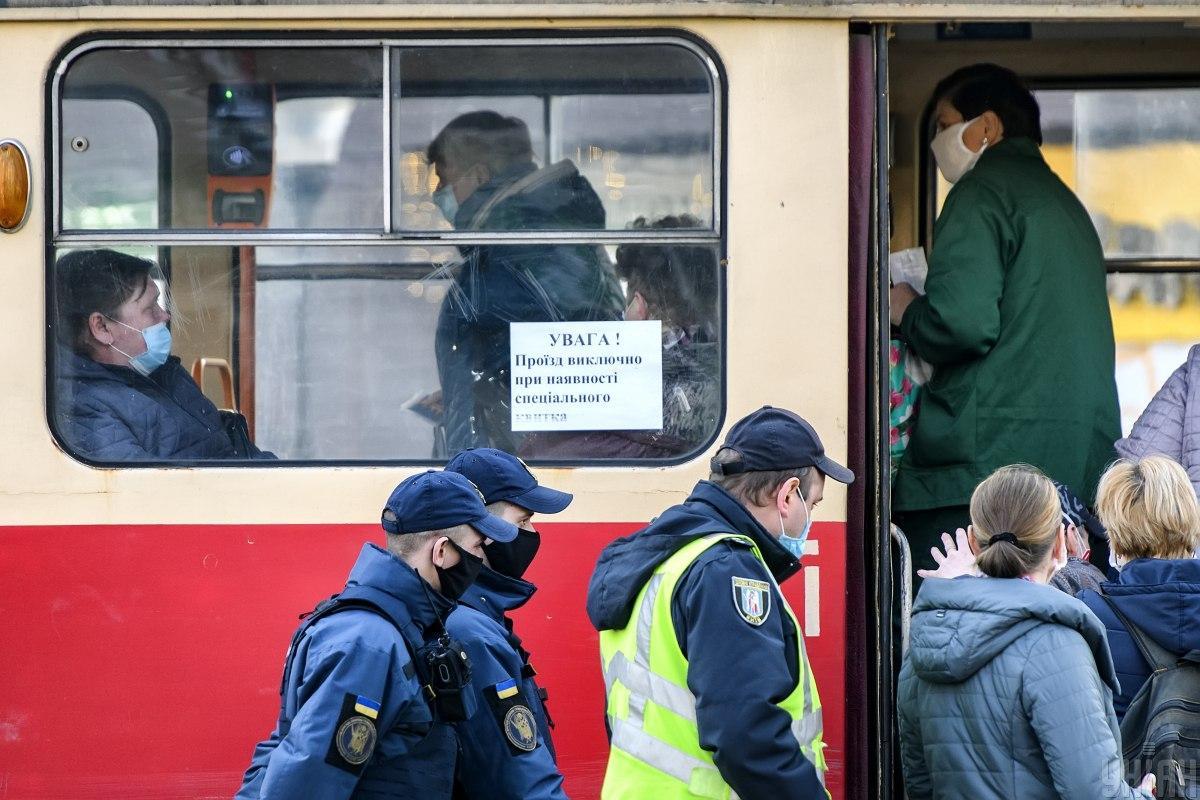 Штрафы за неношение масок в Украине