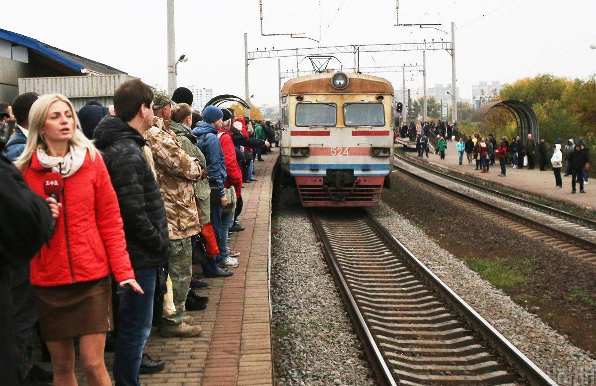 В Киеве изменено расписание движения городской электрички в рабочие дни
