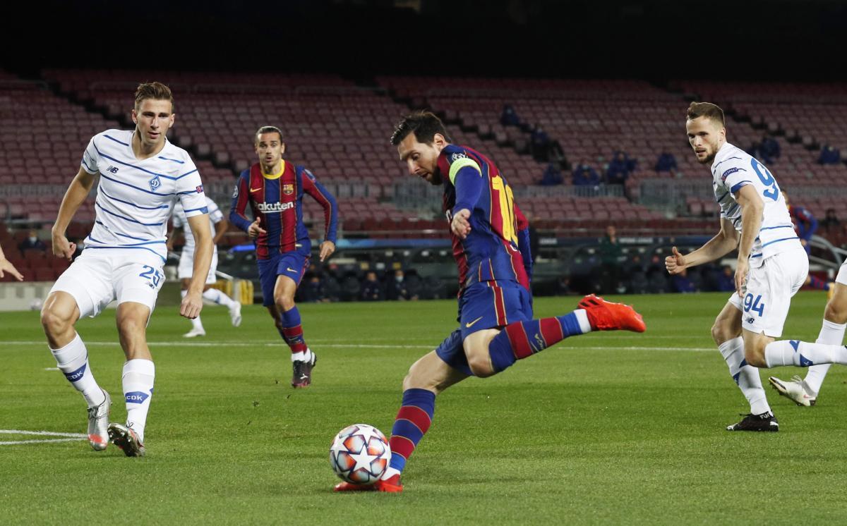 Барселона Динамо - смотреть онлайн матч Лиги чемпионов 04.11.2020
