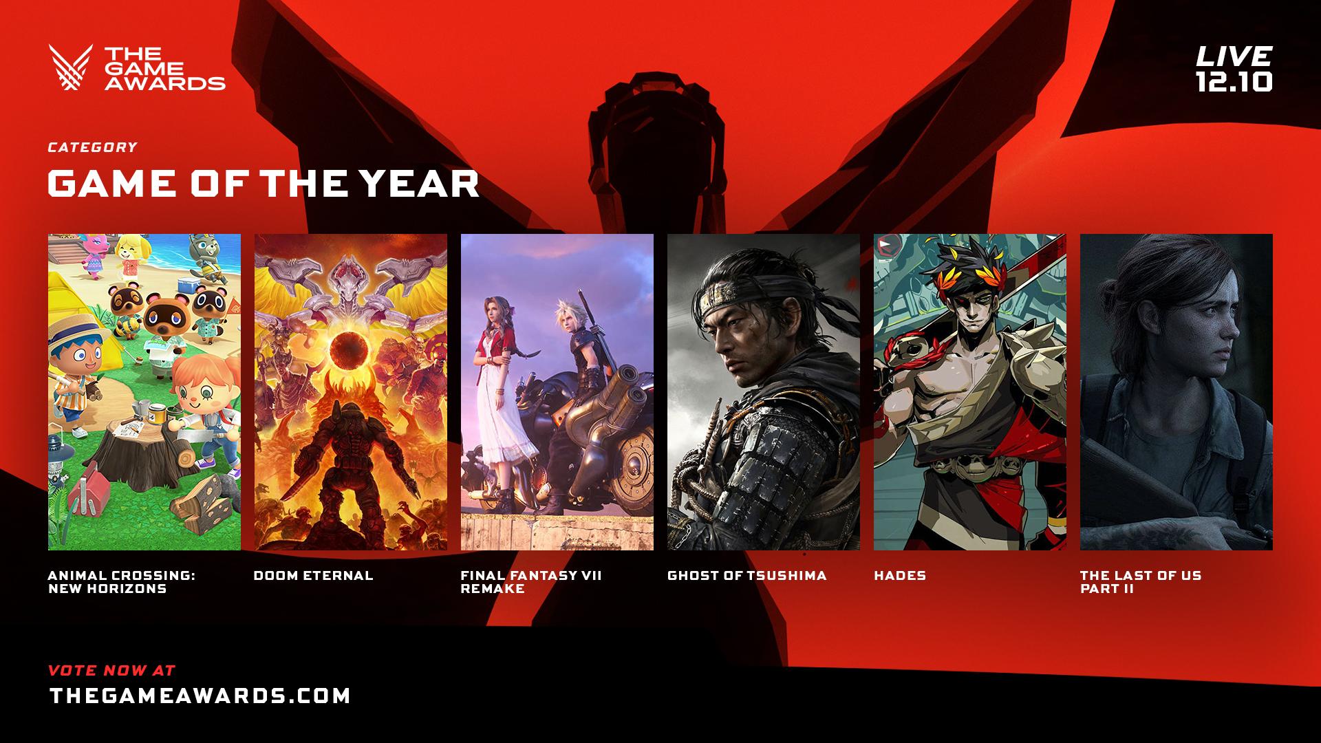 The Game Awards 2020 – представлены номинанты на лучшую игру года — игры —
