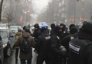 В центре Киеве на акции предпринимателей произошли стычки с полицией (видео)
