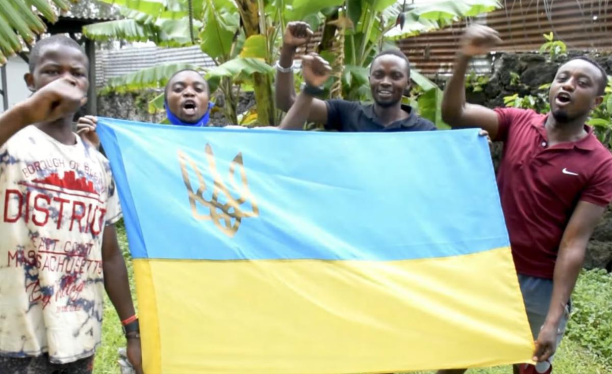 1607265488 8373 - Жители Конго поздравили Украину с днем ВСУ (видео)