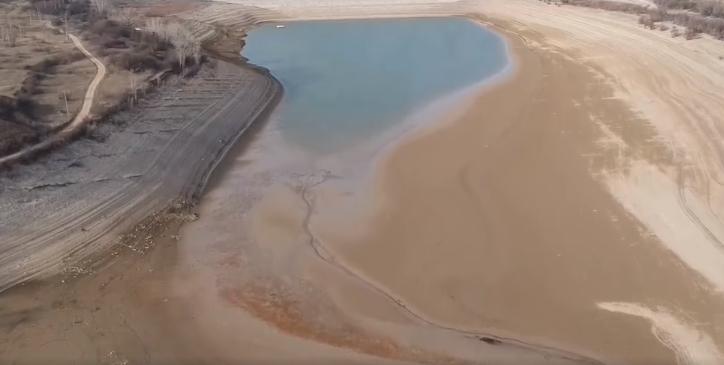В оккупированном Крыму пересохло водохранилище, которое