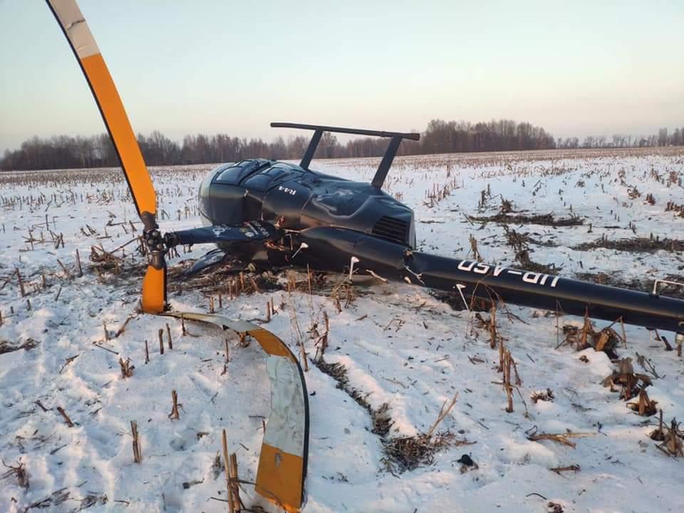 Возле Борисполя 16 января разбился вертолет