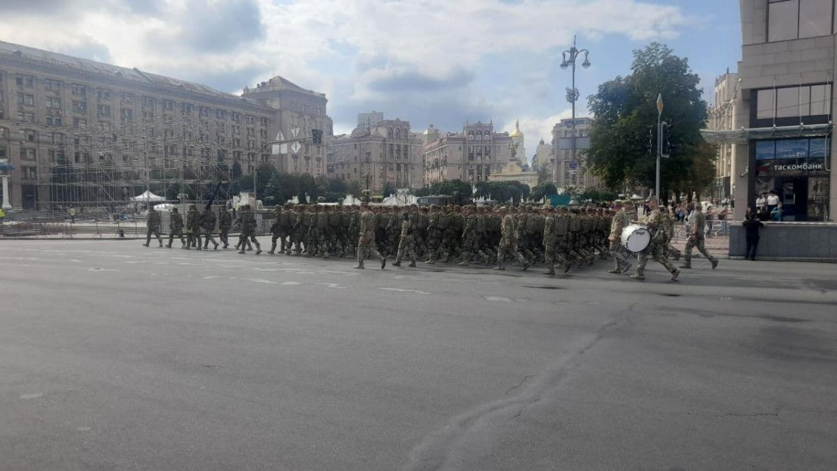 На Майдане Независимости и Крещатике началась первая репетиция парада по случаю 30-летия Независимости Украины