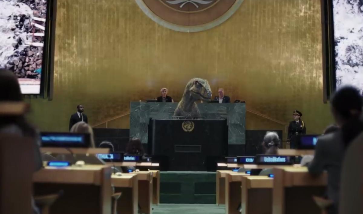 Динозавр Френкі попередив людство про вимирання: ООН випустила креативний ролик