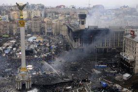 Революция достоинства. Годовщина трагических событий на Майдане в Киеве