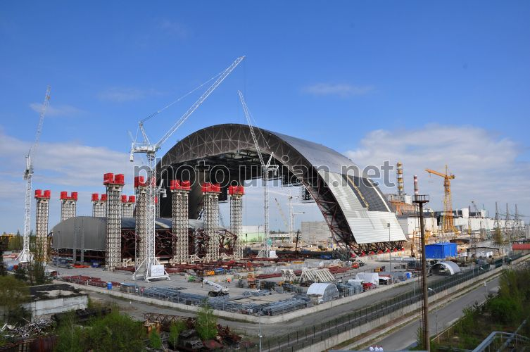 Photo Construction of new safe Confinement - UNIAN