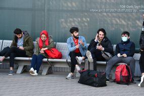 """Громадяни Туреччини в аеропорту """"Бориспіль"""""""